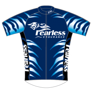 Fearless Endurance Performance Cycling Jersey (Blue)