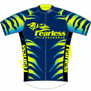 Fearless Endurance Performance Cycling Jersey (Blue/Neon)
