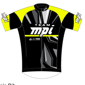 Team MPI GoFierce Cycling Jersey (Black/Neon)