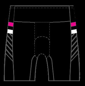 Ainsley's Angels Women's GoFierce Tri Short Shorts FLEECE