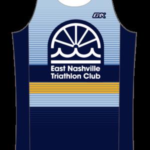East Nashville Tri Club Mens GoFierce Running Singlet BLUE