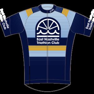 East Nashville Tri Club Mens/Womens GoFierce Cycling Jersey BLUE