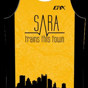 Sara Trains This Town GoFierce Running Singlet (YELLOW)