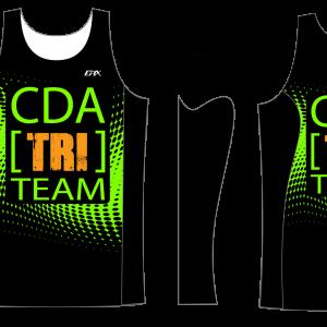 CDA Tri Club GoFierce Running Singlet (Green)