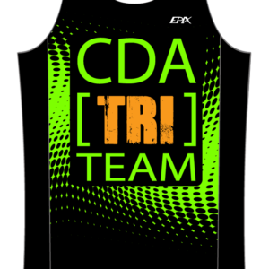 CDA Tri Club GoFierce Running Singlet (Green)