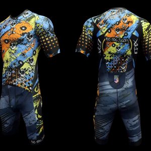Never Stop FreeFlyte Short-Sleeve 1-Piece Tri Suit (Made-To-Order)