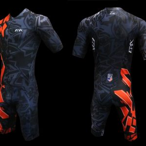 Graffiti 2 FreeFlyte Short-Sleeve 1-Piece Tri Suit (Made-To-Order)