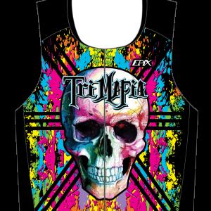 TriMafia GoFierce Sleeveless Tri Top COLORFUL DESIGN
