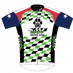 KMF GoFierce Cycling Jersey (White/Green)
