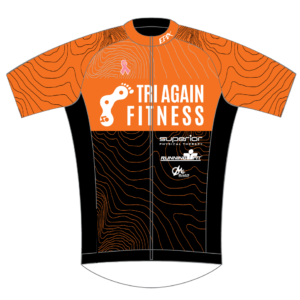 Tri Again FreeFlyte Short Sleeve Cycling Jersey (Orange)