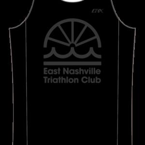 East Nashville Tri Club Mens GoFierce Running Singlet BLACK