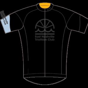 East Nashville Tri Club Mens/Womens GoFierce Cycling Jersey BLACK