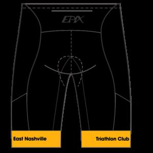 East Nashville Tri Club GoFierce Tri Shorts BLACK