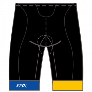 BE REAL Men's/Women's GoFierce Cycling Shorts (Waistband)