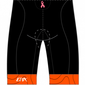 Tri Again Women's GoFierce Cycling Shorts (Waistband) (Orange)
