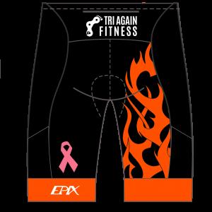 Tri Again Women's GoFierce Cycling Shorts (Waistband) (Black)