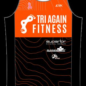 Tri Again GoFierce Running Singlet (Orange)
